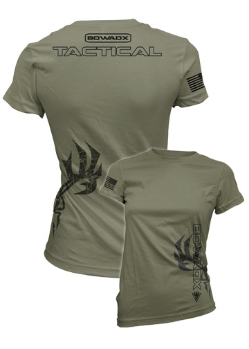 Ladies Tactical Short Sleeve Bow Hunting T Shirt Bow