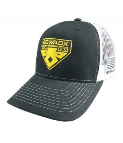White-Grey-Yellow-Shield-Hat
